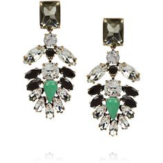J.Crew Crystal encrusted earrings ($130) ❤ liked on Polyvore featuring jewelry, earrings, accessories, clear crystal jewelry, j crew earrings, clear crystal earrings, clear jewelry and j crew jewelry