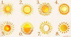 Διαλέξτε έναν ήλιο ως έμβλημα και ανακαλύψτε την αληθινή σας φύση και τις βαθύτερες φιλοδοξίες σας! Kai