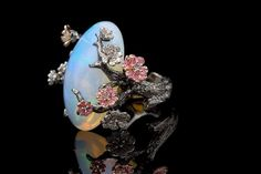 #Opal almond blossom ring. #Rings #jewellery