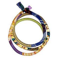 BIJOUX TOUBAB PARIS - collier/ceinture en tissu africain wax Toutencordon  / wax african fabric necklace/belt from TOUBAB PARIS JEWELRY