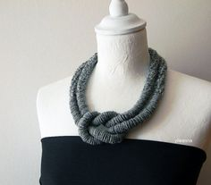Wool necklace Big necklace Chunky necklace Winter by ylleanna