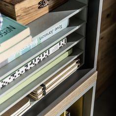 Vox Balance Modular Bookcase in Grey & Oak Effect