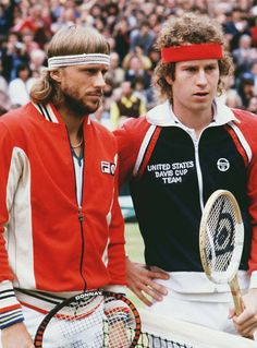 Bjorn Borg and John McEnroe, 1980.....Two Great Champions