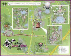 In-Depth look at RunDisney 2015 Wine & Dine Half Marathon Course Maps - Eat, Run, Travel!