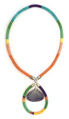 Handmade Statement Necklace, OOAK, Rope Statement Necklace, Tribal Necklace, Color Block Necklace, Colorful Handmade Necklace