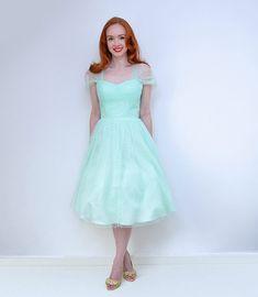 Unique Vintage mint green Garden State dress