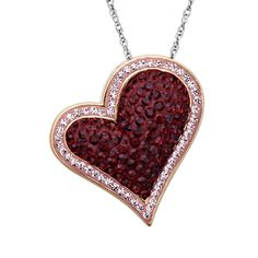 1/19/14 - Heart Pendant with Swarovski in Sterling Silver