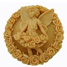 Grainrain Angle and Rose Round Shaped White Flexible Craft Art Silicone Soap mold Craft Molds DIY Handmade soap molds Mould >>> You can find out more details at the link of the image.