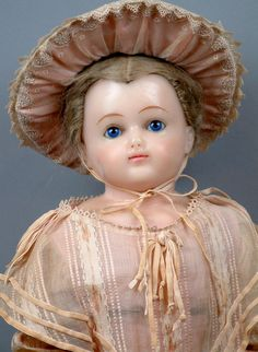 """Exquisite 29"""" English Poured Wax Lady in Spectacular Original Costume from kathylibratysantiques on Ruby Lane"""