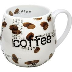 Give your morning joe an extra jolt with the Coffee Collage collection. The cool, contemporary style of Coffee Collage Snuggle Mugs consists of white porcelain sprinkled inside-and-out with photo-real