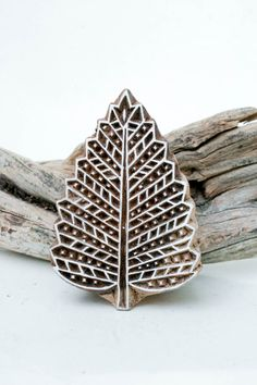 Wood Block Stamp Leaf 188 by TATAindianwoodstamps on Etsy