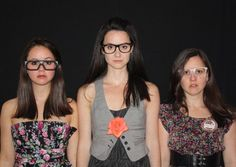 Florals, Tweeds and Glasses. My sisters and I at my 21st! @Carrie Mcknelly Linder
