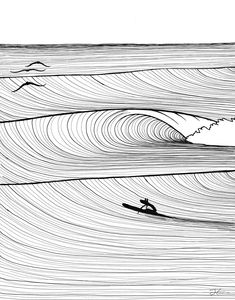 Westlake Art - Surf People - Coffee Cup Mug - Modern Picture Photography Artwork Home Office Birthday Gift - 11 Ounce Art Surf, Deco Surf, Surf Drawing, Surf Tattoo, Surfboard Art, Surfboard Drawing, Surf Design, Wave Art, Ink Illustrations