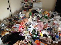団地の大量ゴミ掃除片付け前1
