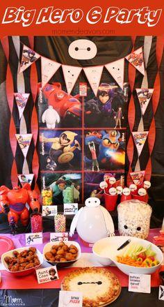 Disney Big Hero 6 Party - decor, fun food, and activity ideas!! #BigHero6Release #ad