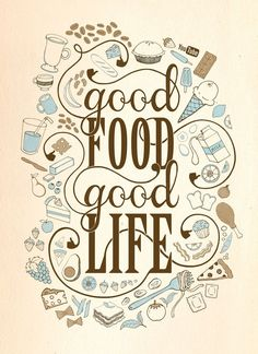 We at the Part Time Cook believe that Good Food means a Good Life. Continuing with our Food Quote series, all our passions & dreams revolve around food!