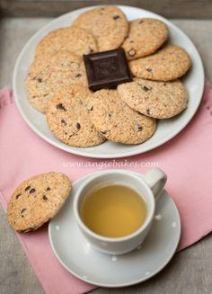 Mandlovo - kokosové sušenky s kousky čokolády