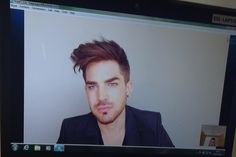 #XFactor A Skype call with some advice from @adamlambert for @PaulAkister! #MJvsQueen Embedded image permalink
