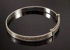 Silver Baby Bangle Bracelet  60s Vintage by BelmontandBellamy