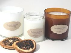 Teak-wood candle/Hand poured soy candle/exotic Caribbean