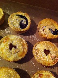 Mini pies (peach and blueberry) by Cloud 9 Bakery www.cloud9bakerycafe.com