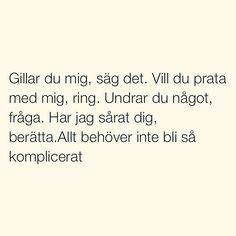 Se foton och videoklipp från SITUATIONER (@situationer) på Instagram Sad Quotes, Best Quotes, Love Quotes, Motivational Quotes, Swedish Quotes, Cheesy Quotes, Complicated Love, Different Quotes, Pep Talks