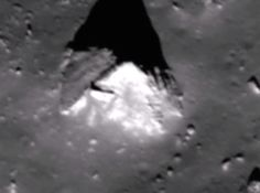 Pyramid on Lunar Surface in Ryder Crater - This is a rare photo of the far side of Earths Moon.