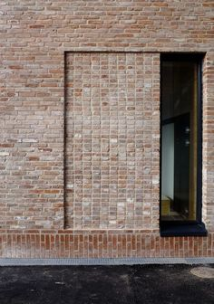 - facade- Grey brickwork of terraced London house Blog Architecture, Detail Architecture, Minimalist Architecture, Garden Architecture, Brick Cladding, Brickwork, Brick Design, Facade Design, Brick Building
