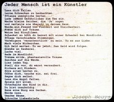 Everyone is an artist - Joseph Beuys