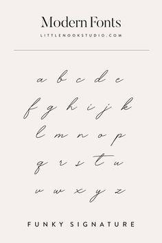 Font inspiration for your blog or brand. Type design, type inspiration, font inspiration, typography design, typography logo, typography inspiration, logo fonts, blog fonts by Little Nook Studio