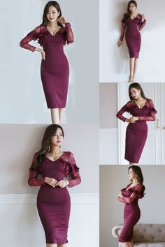 Beautiful dresses like this elegant bodycon dress are suitable for any occasion. ✔ Worldwide Free Shipping ✔ Get 15% Discount On Thanksgiving Sale: Apply Coupon code: thanksgiving2020 #Lace #HollowOut #Elegant #Sexy #Bodycon #PartyDress #FormalEvening #LongSleeve #Fallfashion Long Sleeve Maxi, Maxi Dress With Sleeves, Floral Maxi Dress, Boho Dress, Striped Dress, Long Summer Dresses, White Dress Summer, Bodycon Dress Parties, Party Dresses