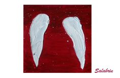 Engelsflügel / Engel Bilder als Acrylbild. Spirituelle Bilder in Acrylmalerei. Leinwandbild in 20 x 20 cm http://de.dawanda.com/product/103686371-bild-engelsfluegel Designerstück von Salabrin bei DaWanda