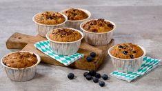 Bilderesultat for havremuffins med blåbær Oreo Brownies, Oreos, Greens Recipe, Muesli, Buttercream Frosting, Scones, Cereal, Food And Drink, Pudding