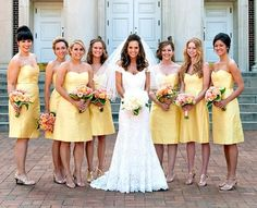 not a big yellow fan but love the brides dress!!!