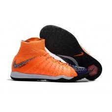 online store 55415 737a7 Nike HypervenomX Proximo II DF TF Soccer Cleats - Dark Blue Orange Websites  Blue Orange