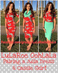 Pairing a Julia dress & Cassie skirt!  #lularoe #lularoejulia #lularoeCassie…