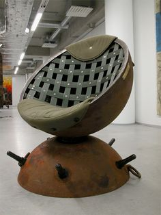 Estonian artist Mati Karmin creates unique furniture out of recycled naval mines that were used during World War II.