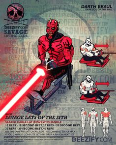 back exercise: lat rows with darth maul