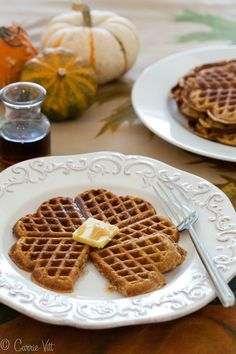Pumpkin Spice Waffles - We all enjoyed the rich, balanced flavors of spices and pumpkin with just a touch of sweetness.