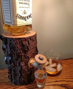 Liquor Log Booze Dispenser -The perfect gift for someone who has everything, and is a classy ass gent