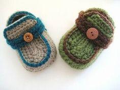 Easy Crochet Baby Booties | Crochet Dreamz: Boy's Moccasins Crochet Baby Booties Pattern ( pdf ...