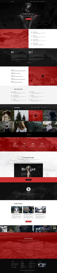 one page personal portfolio website template free psd landing