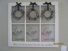 Fun transfer technique for old windows...into a barn-chic country piece for your wall!