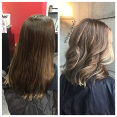 Before & After Blonde Balayage heavy face framing highlights by @amy_ziegler #askforamy #versatilestrands
