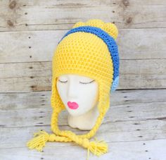 Crochet Cinderella hat. I want this!