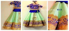 Kids Indian Wear, Kids Ethnic Wear, Baby Lehenga, Kids Lehenga, Cute Girl Dresses, Little Girl Dresses, Baby Girl Fashion, Kids Fashion, Kids Party Wear