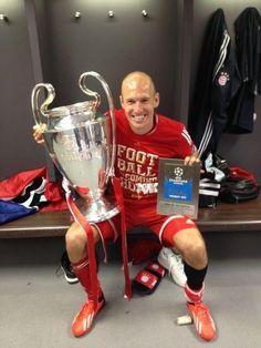 Arjen Robben, Bayern Munich Champions League 2012/13 winner and Man-of- the-Match
