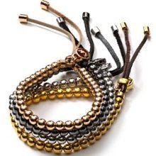 Michael Kors Leather Beaded Bracelet