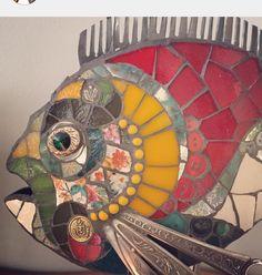 Mosaic Diy, Mosaic Garden, Mosaic Crafts, Mosaic Projects, Art Projects, Stone Mosaic, Mosaic Glass, Stained Glass, Glass Art