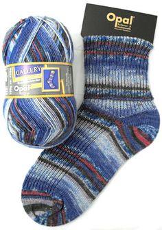 Opal Sock Yarn Gallery 8887 Blue Whale in the Red Sea